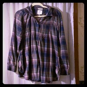 Gently worn AE Aerie Soft Flannel Jegging Shirt